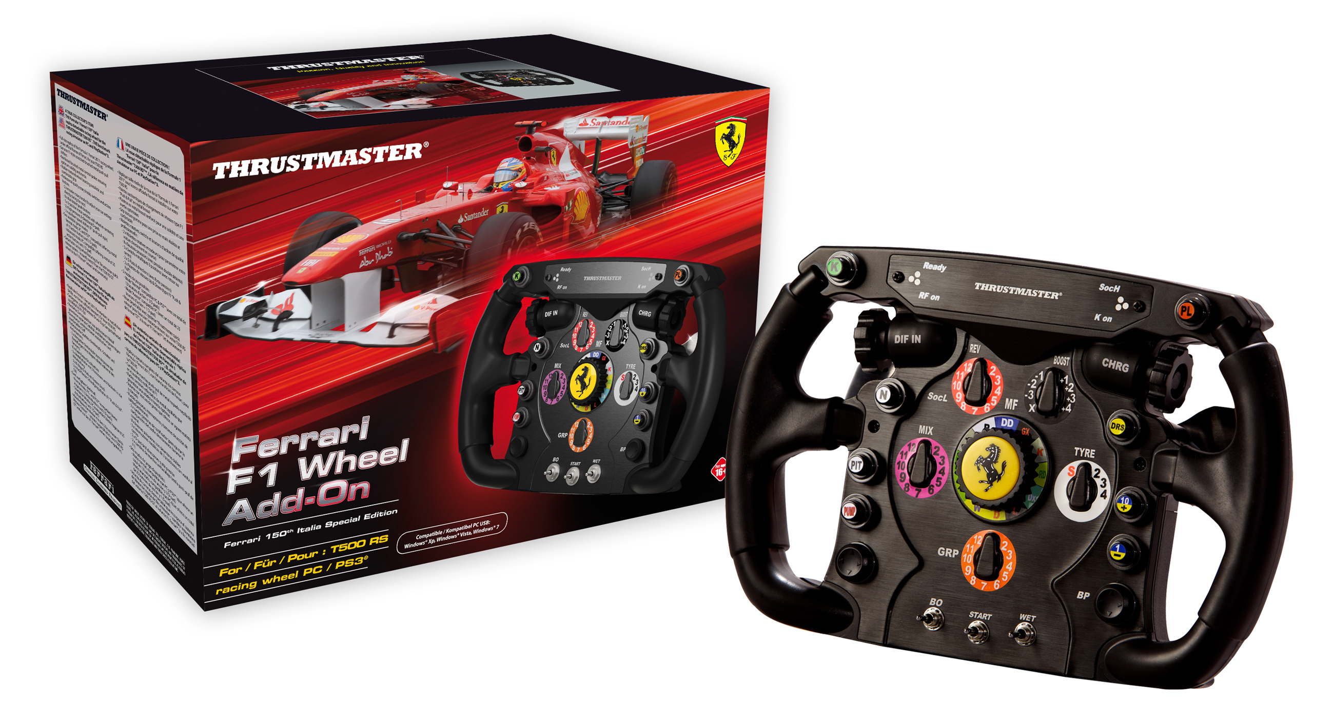 thrustmaster ferrari f1 wheel integral t500 le bonheur au bout des doigts plan te. Black Bedroom Furniture Sets. Home Design Ideas
