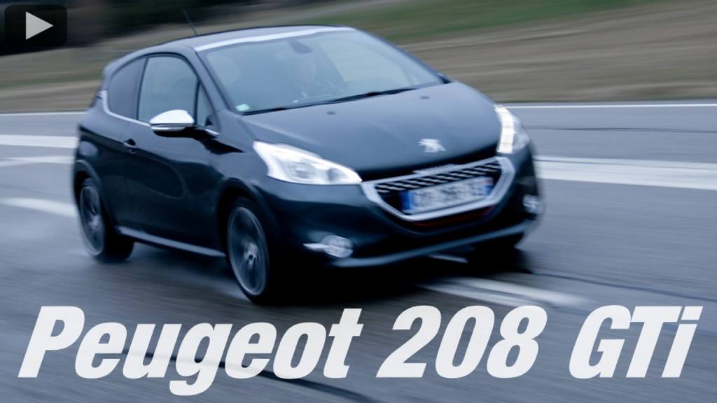 essai video peugeot 208 gti plan te. Black Bedroom Furniture Sets. Home Design Ideas
