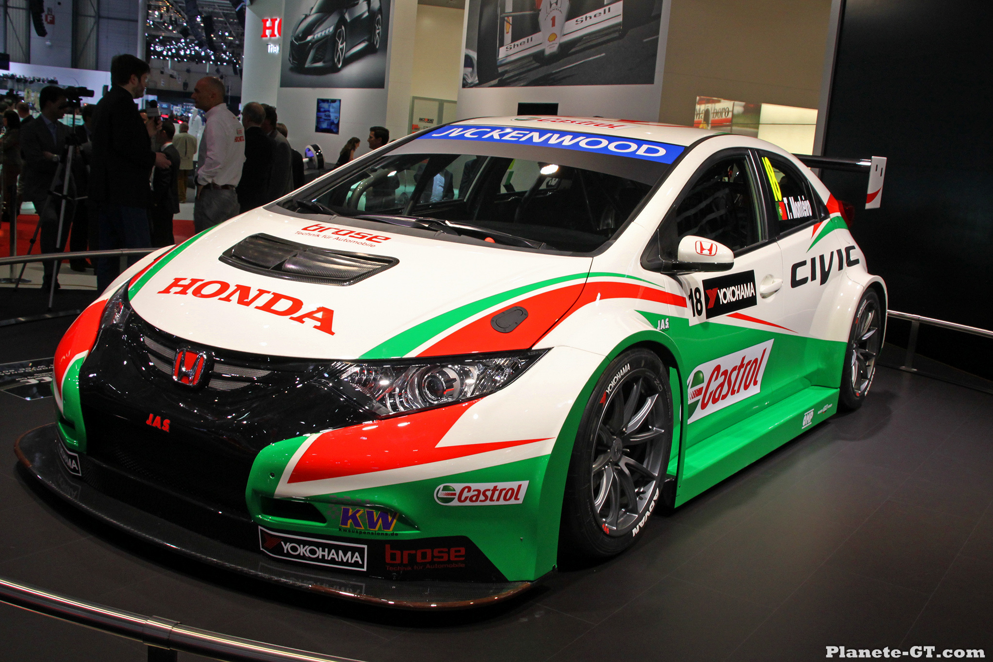 gen ve 2014 le stand honda avec les civic type r et wtcc. Black Bedroom Furniture Sets. Home Design Ideas