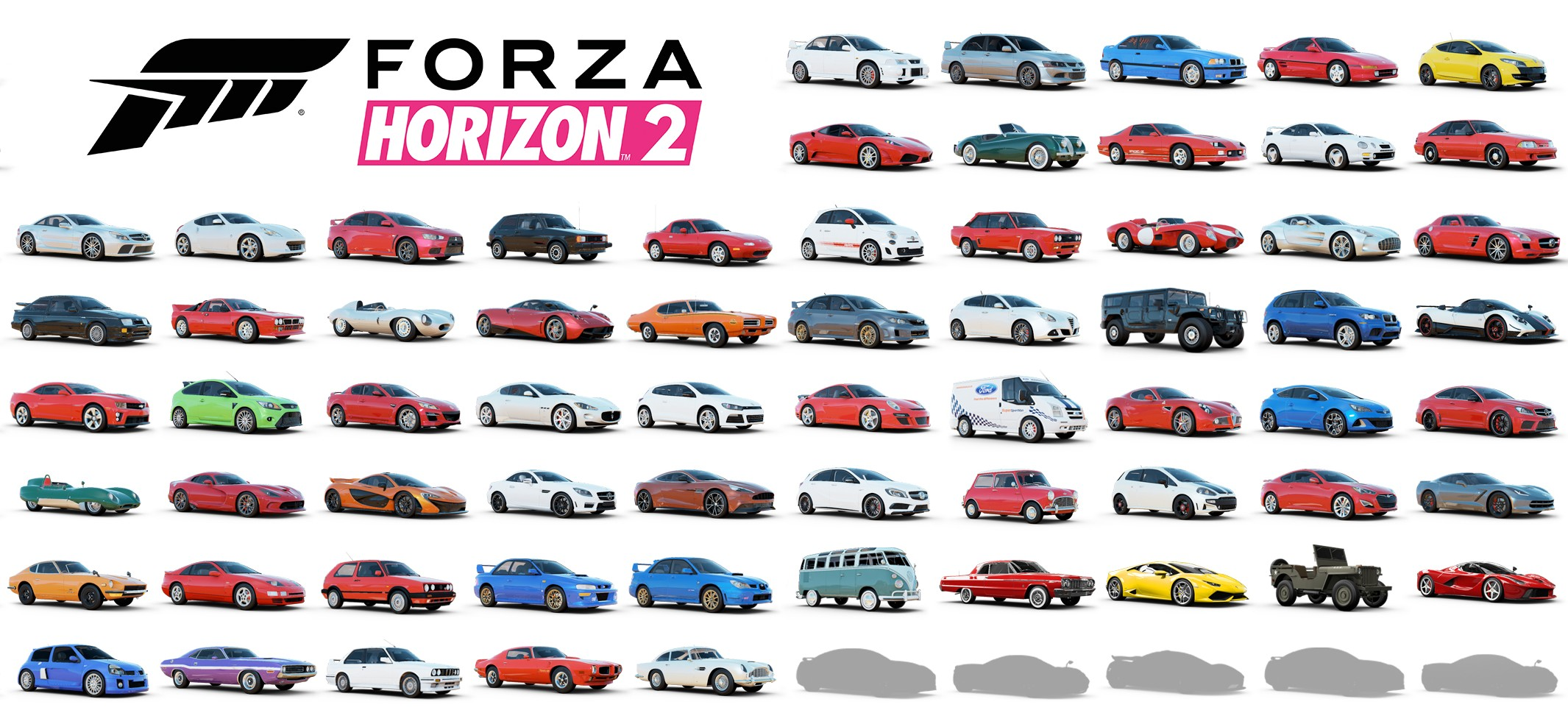 forza horizon 2 liste 100 voitures 8 plan te. Black Bedroom Furniture Sets. Home Design Ideas
