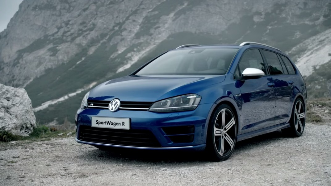 golf 7 r variant premi re vid o sur route plan te. Black Bedroom Furniture Sets. Home Design Ideas