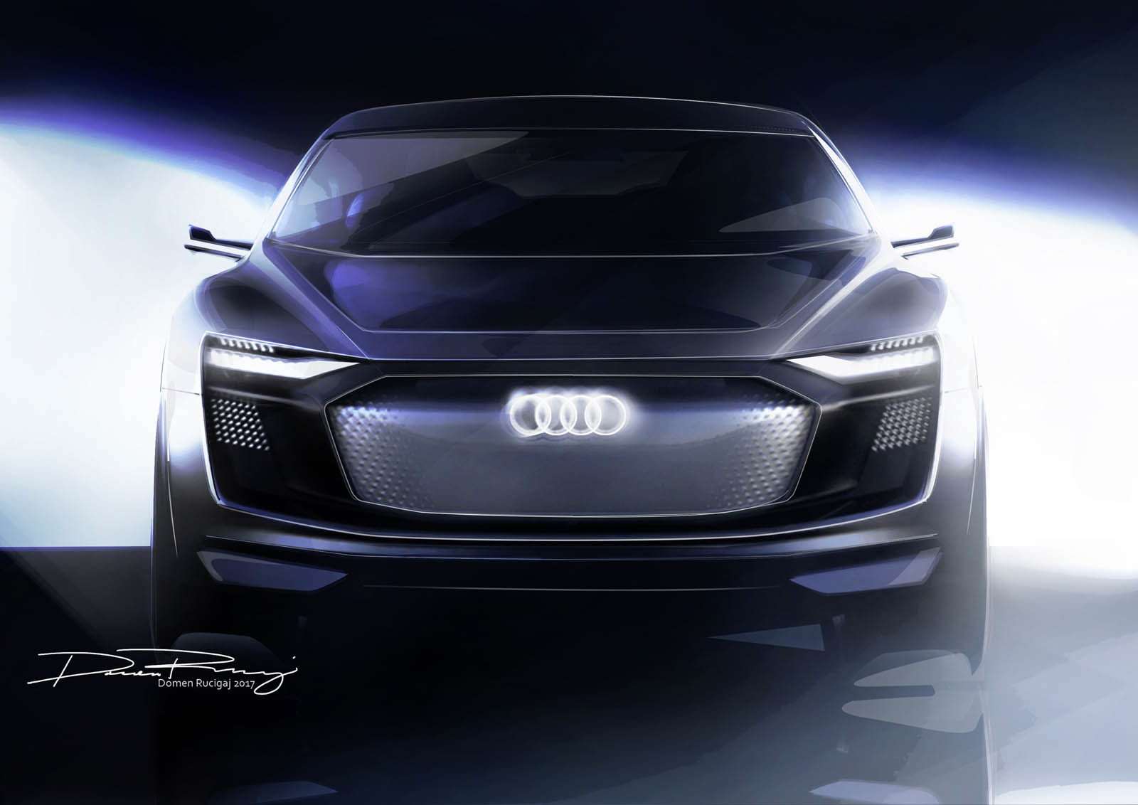 audi e tron sportback le futur q6 en teaser plan te. Black Bedroom Furniture Sets. Home Design Ideas