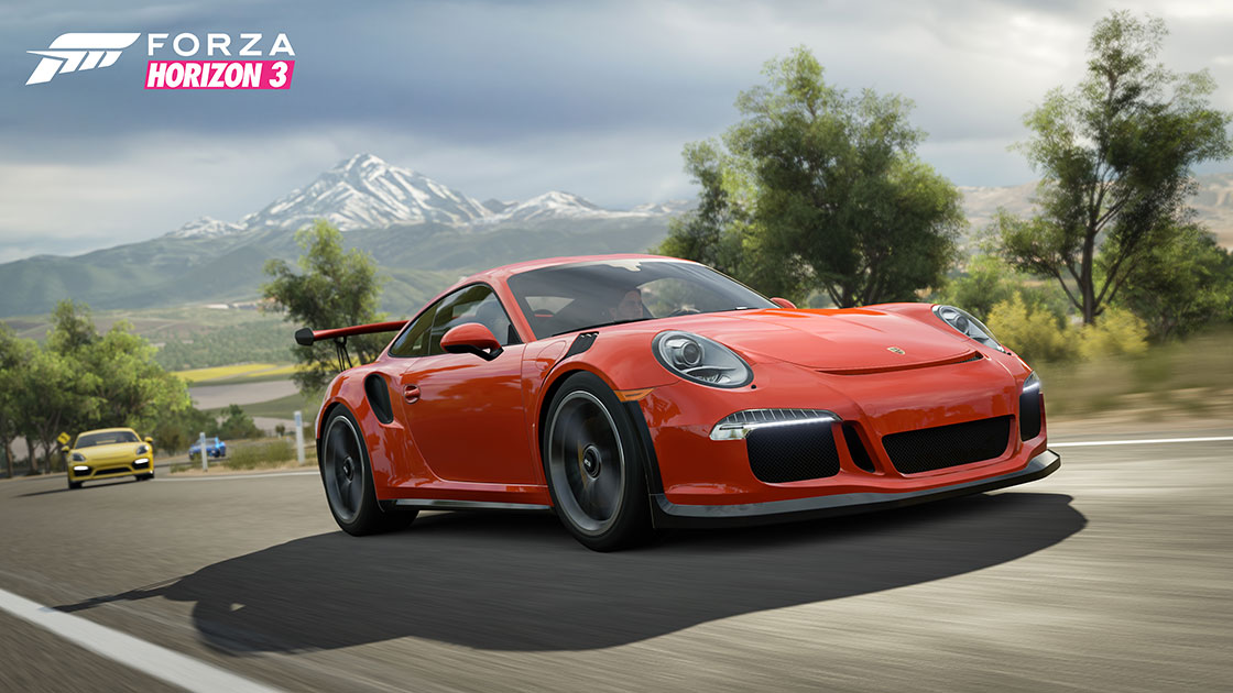 porsche est aussi dans forza horizon 3 en dlc plan te. Black Bedroom Furniture Sets. Home Design Ideas